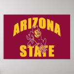 Diablo de Sun del estado de Arizona Póster