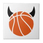 Diablo del baloncesto azulejos ceramicos