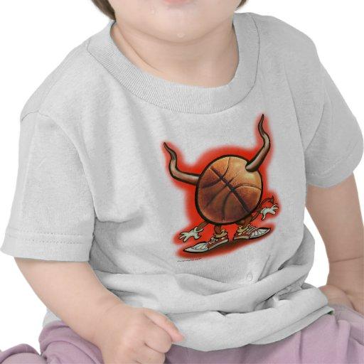 Diablo del baloncesto camisetas