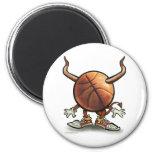 Diablo del baloncesto imán de frigorífico