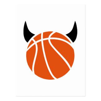 Diablo del baloncesto tarjetas postales