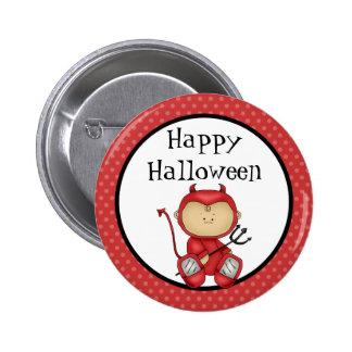Diablo del bebé del feliz Halloween Pin Redondo 5 Cm