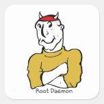 Diablo del demonio de la raíz colcomanias cuadradases
