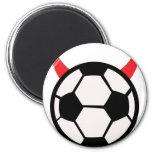 diablo del fútbol del fútbol iman de nevera