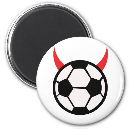 diablo del fútbol del fútbol iman para frigorífico