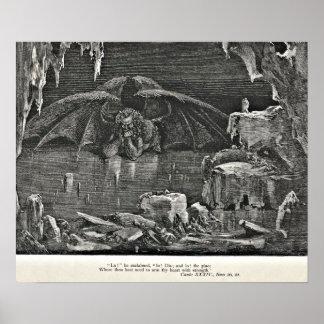 Diablo del infierno de Dante en el ejemplo del inf Póster