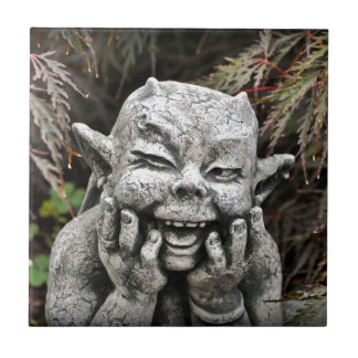 Diablo del jardín azulejo cuadrado pequeño