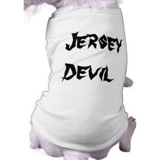 Diablo del jersey playera sin mangas para perro