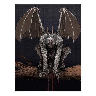 Diablo del jersey tarjeta postal