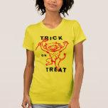 Diablo del kitsch retro del vintage de Halloween Camiseta