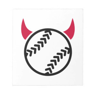 Diablo del softball bloc de notas