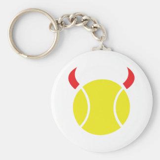 diablo del tenis llavero redondo tipo pin