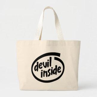 Diablo dentro bolsa de mano