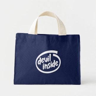 Diablo dentro bolsas lienzo