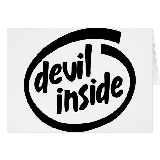Diablo dentro felicitación