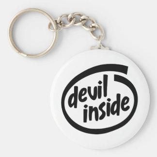 Diablo dentro llavero personalizado