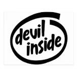 Diablo dentro tarjetas postales