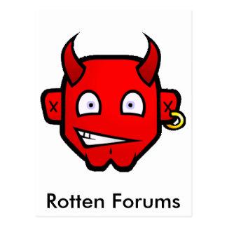 Diablo diabólico - pequeño tarjeta postal