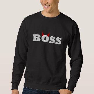Diablo divertido Boss con los cuernos Sudadera Con Capucha