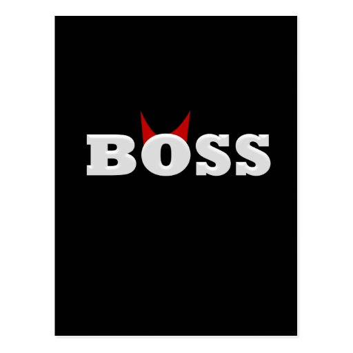 Diablo divertido Boss con los cuernos Tarjetas Postales