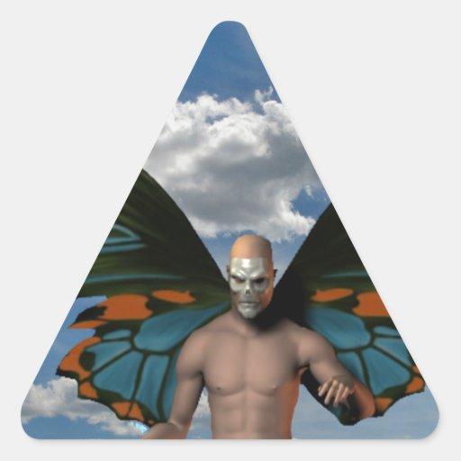 Diablo en el cielo calcomanías de triangulos