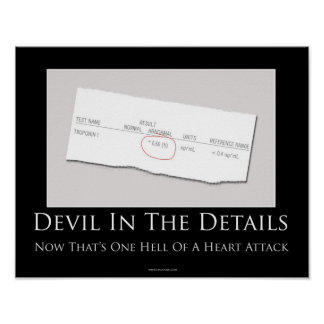 Diablo en el poster de motivación de los detalles póster