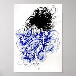 Diablo en un vestido azul posters