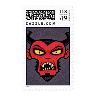 Diablo enojado franqueo