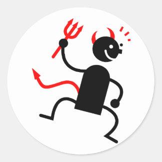Diablo Etiquetas Redondas