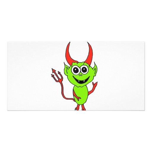 Diablo extranjero tarjetas personales
