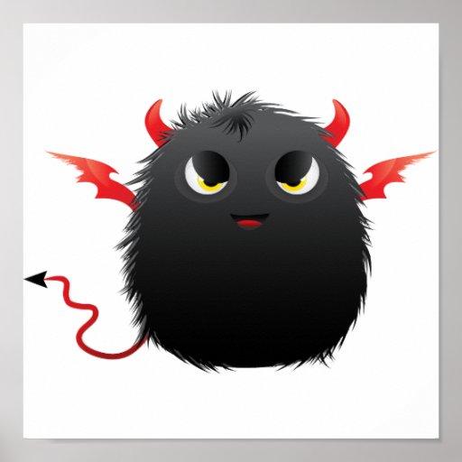 Diablo Furry Monster Poster