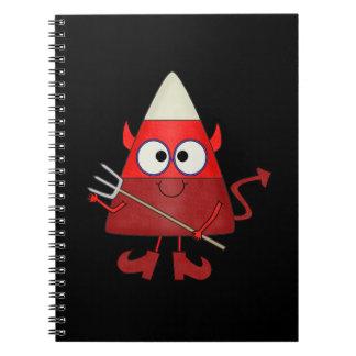 Diablo Halloween de las pastillas de caramelo Note Book
