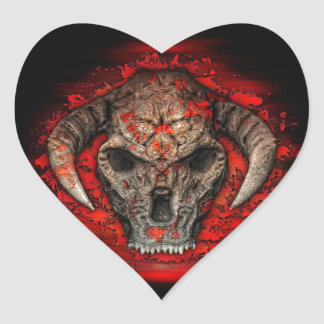 Diablo Heart Sticker