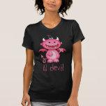 Diablo lindo del chica camisetas