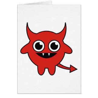 Diablo lindo tarjeta de felicitación