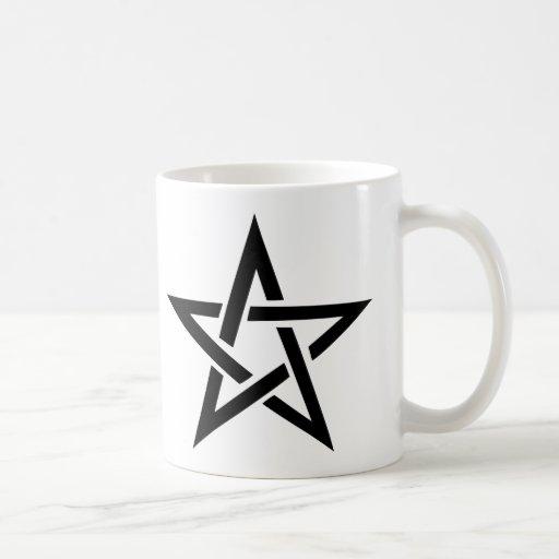 diablo negro 666 del pentagram del pentáculo tazas de café