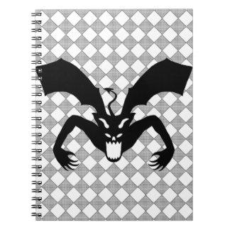 Diablo negro libros de apuntes