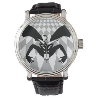 Diablo negro reloj de mano
