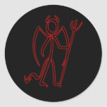 Diablo - pegatinas de Stickman Pegatina Redonda
