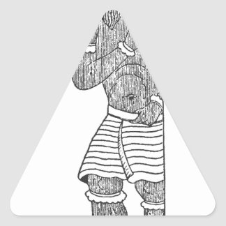 Diablo persa pegatina triangular