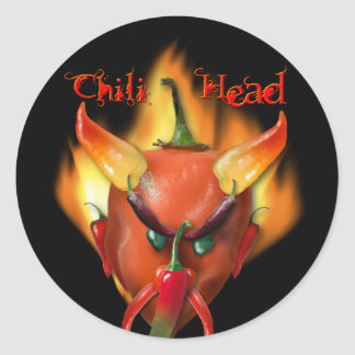 Diablo principal del chile pegatina redonda