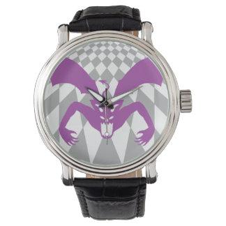 Diablo púrpura reloj