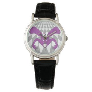 Diablo púrpura relojes de pulsera