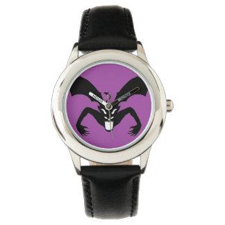 Diablo púrpura y negro relojes de mano