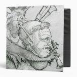 Diablo que juega la cabeza como saxofón, 1144 del