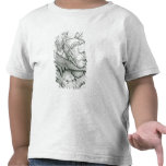 Diablo que juega la cabeza como saxofón, 1144 del camisetas