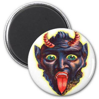 Diablo retro Satan Lucifer del kitsch del vintage  Imanes