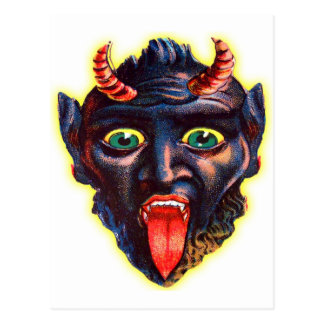 Diablo retro Satan Lucifer del kitsch del vintage Postales