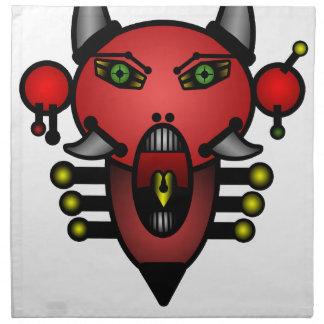 Diablo retro servilleta de papel