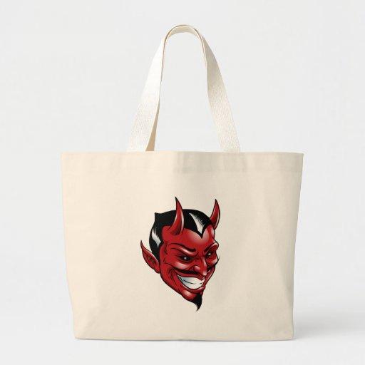 Diablo rojo bolsa tela grande